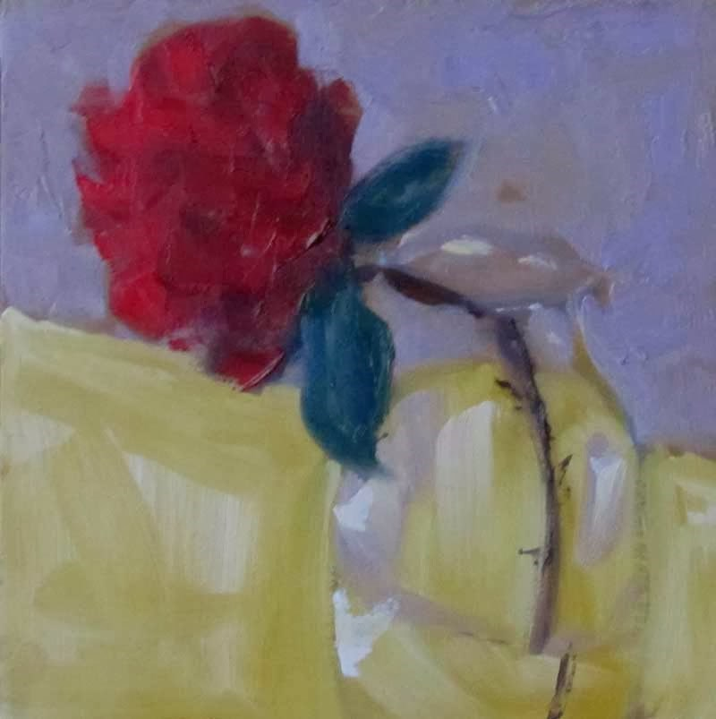 """Dec Rose_3"" original fine art by Helen Moreda"