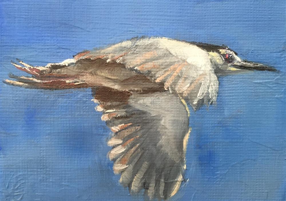"""Night Heron"" original fine art by Gary Bruton"