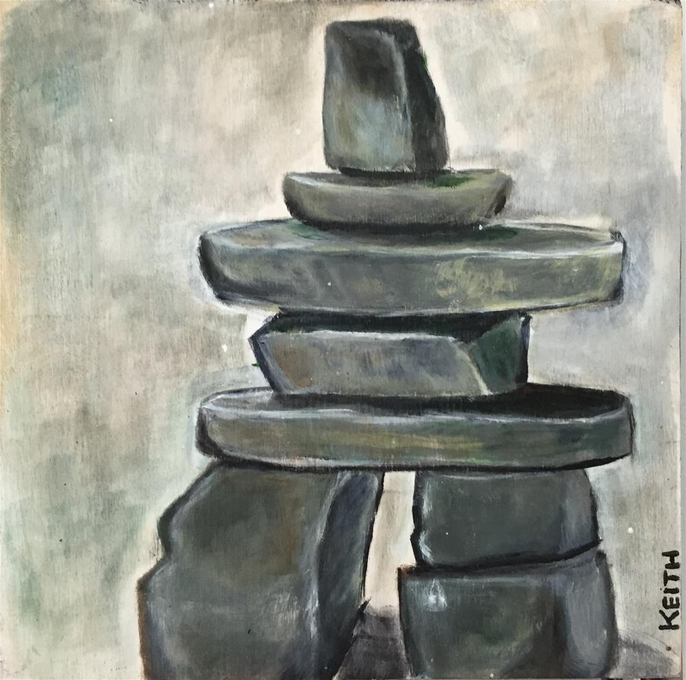 """Lime Stone Rocks"" original fine art by Kandice Keith"