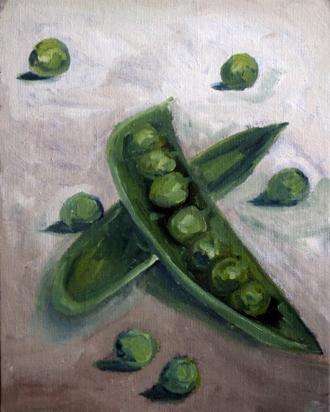 """peas"" original fine art by Kristen Dukat"