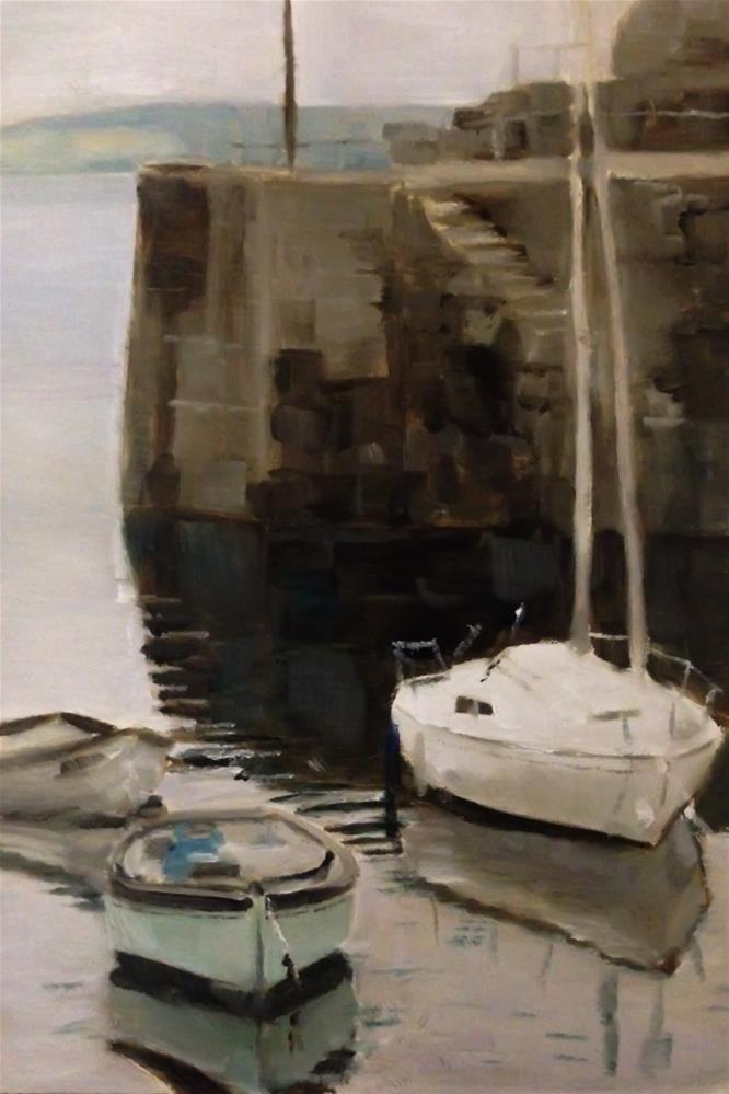 """Cornish Harbour"" original fine art by James Coates"