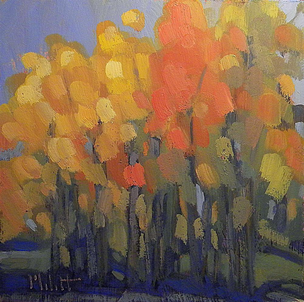 """October Surprise Autumn Landscape Oil Painting"" original fine art by Heidi Malott"