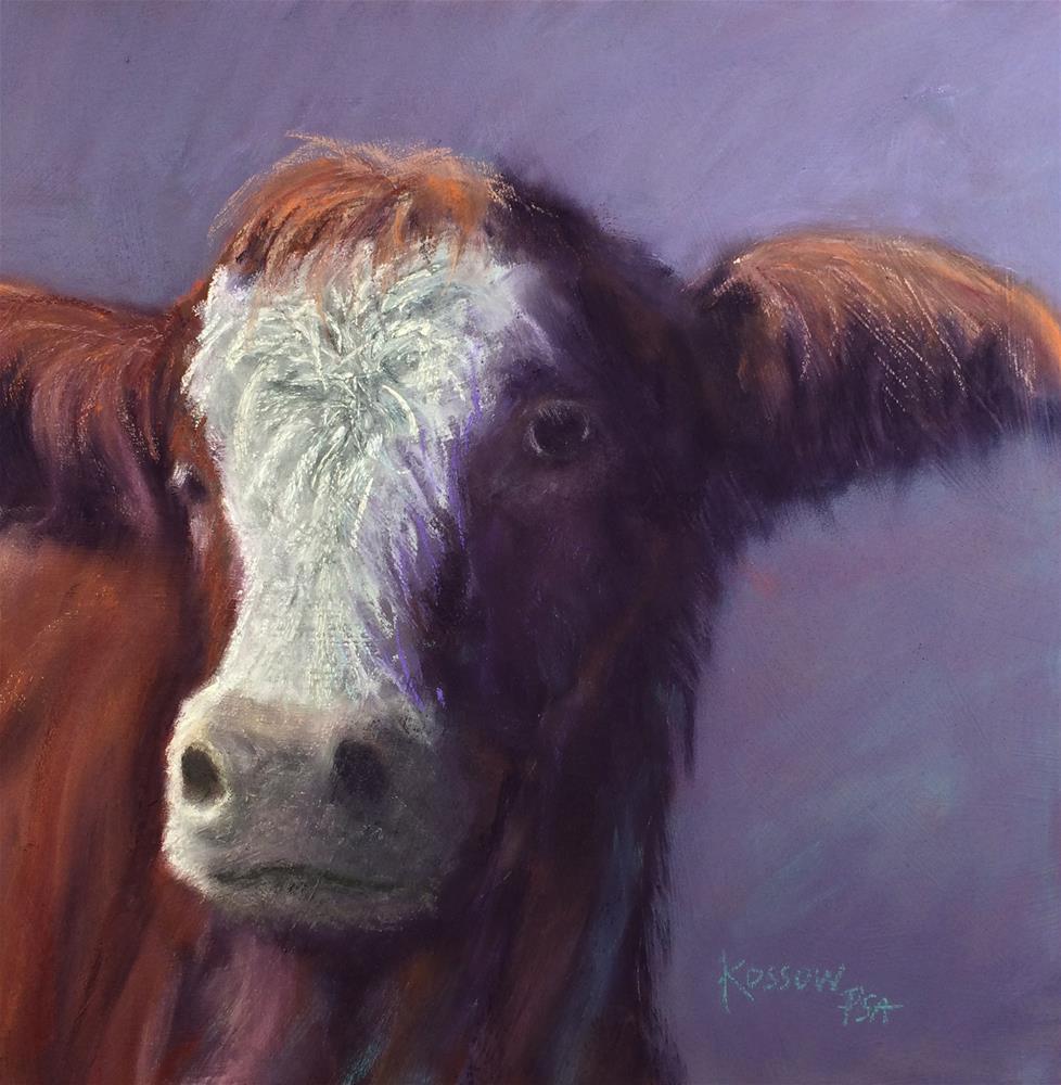 """Bashful"" original fine art by Cristine Kossow"