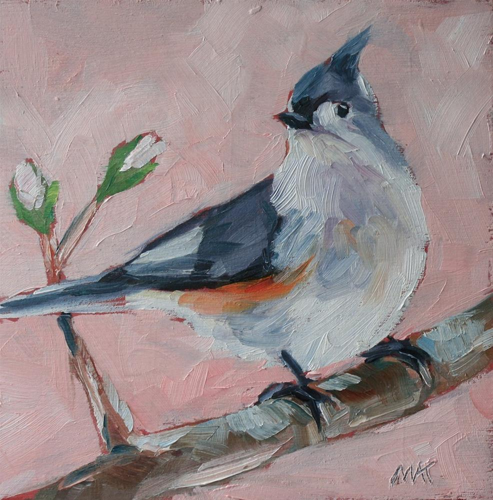 """Little Titmouse"" original fine art by Mary Anne Cary"