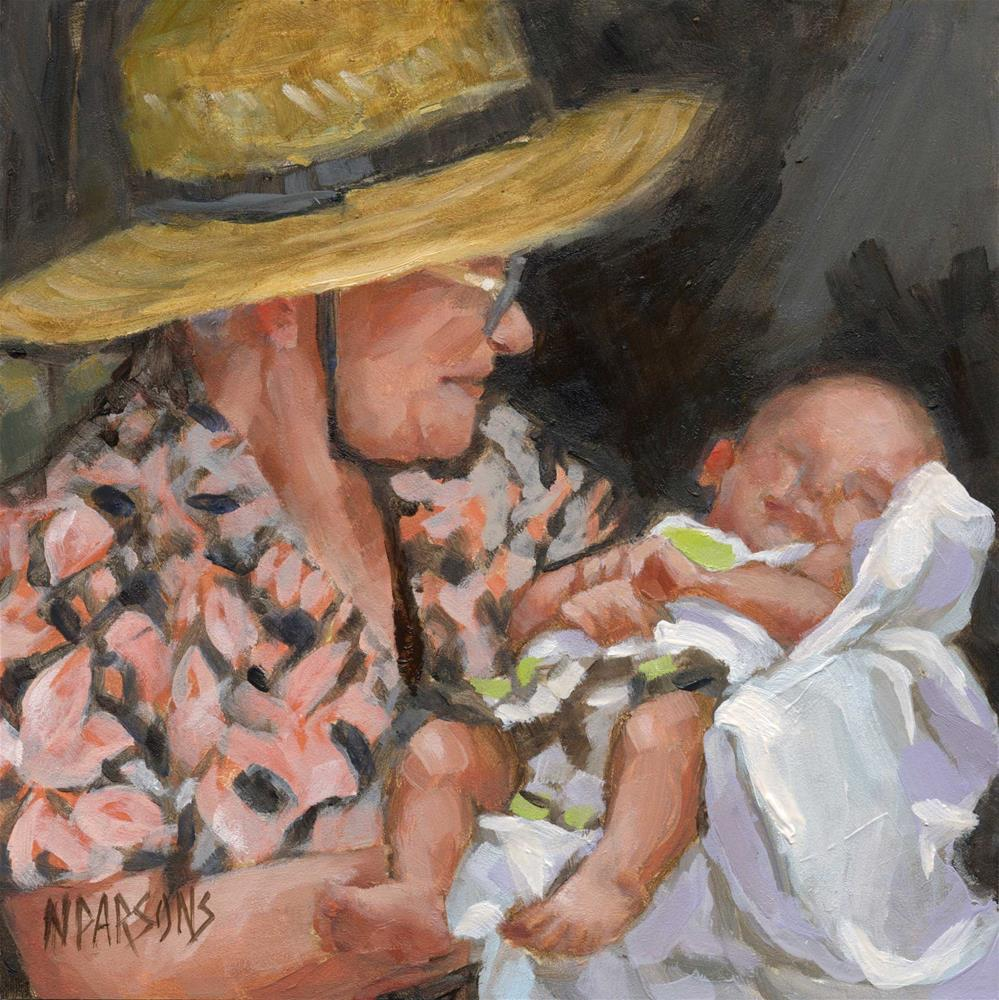 """SOLD- Big Momma and Jack"" original fine art by Nancy Parsons"