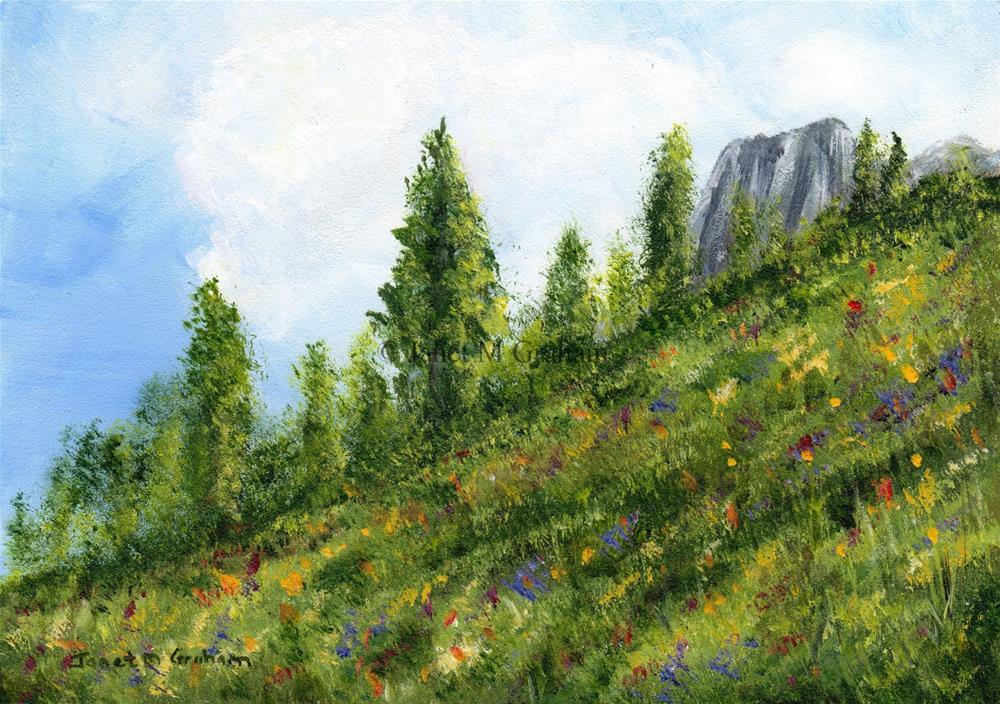 """Spring"" original fine art by Janet Graham"