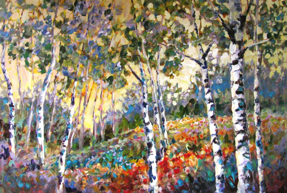 """Gathering of Trees"" original fine art by Melissa Gannon"