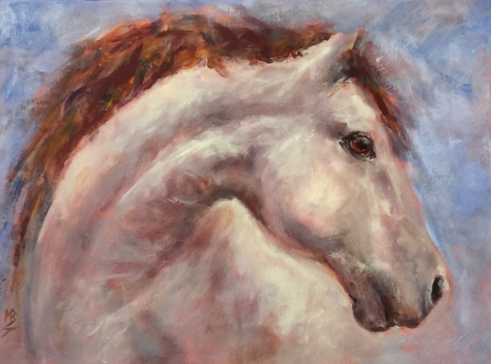 """Pale Ride"" original fine art by Mary Schiros"