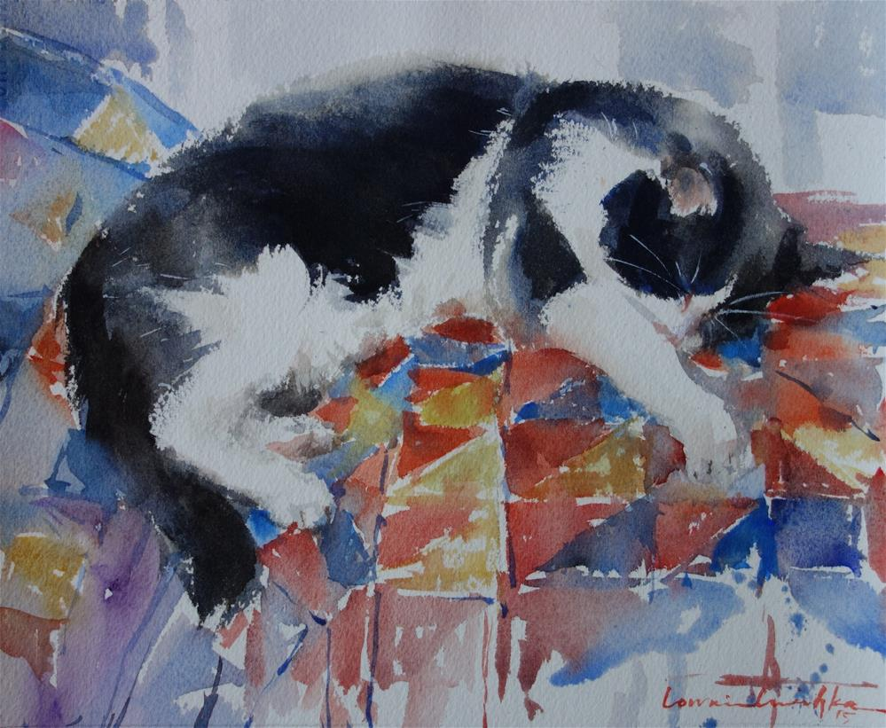"""Oblivious"" original fine art by Lorraine Lewitzka"