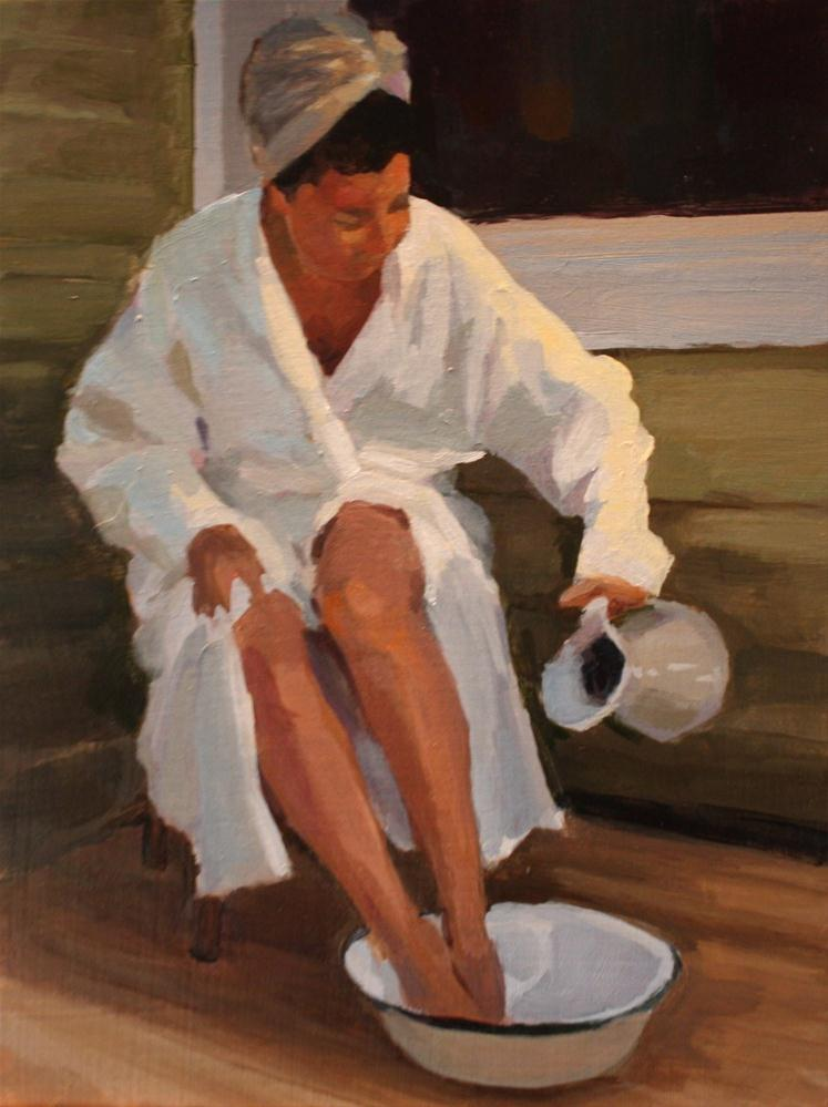 """The Bather"" original fine art by Kaethe Bealer"