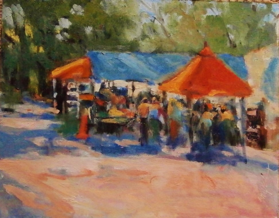 """Farmers's Market, Charlotte, NC"" original fine art by Connie Snipes"
