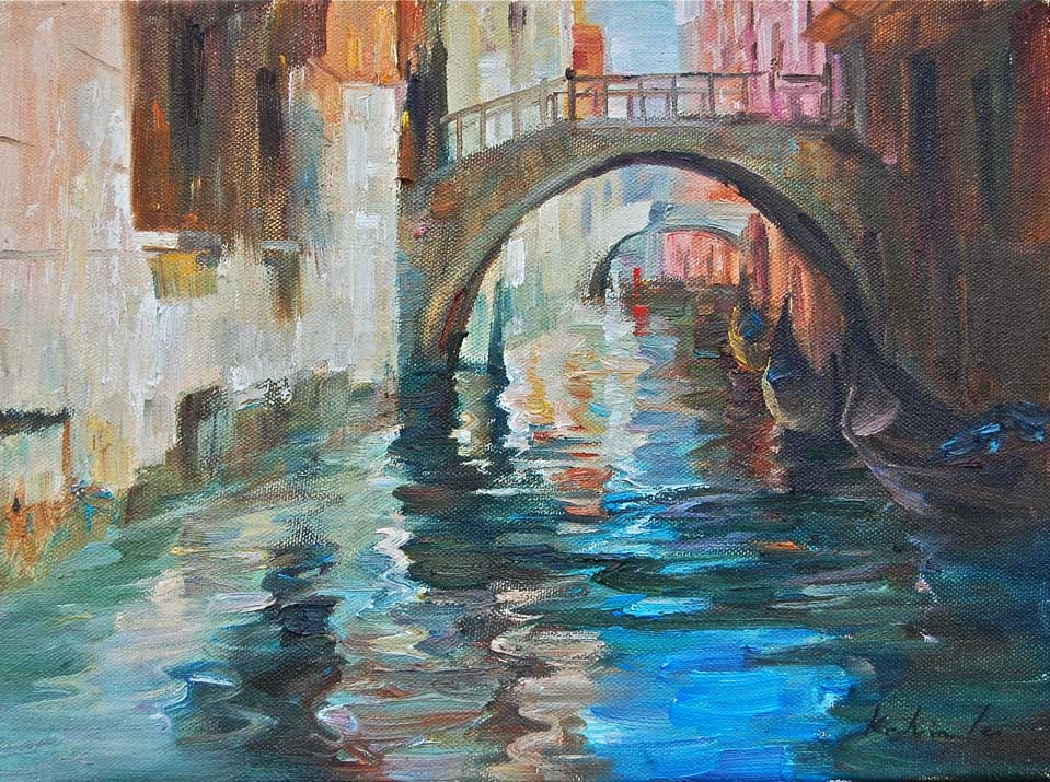 """Venice"" original fine art by Kelvin Lei"