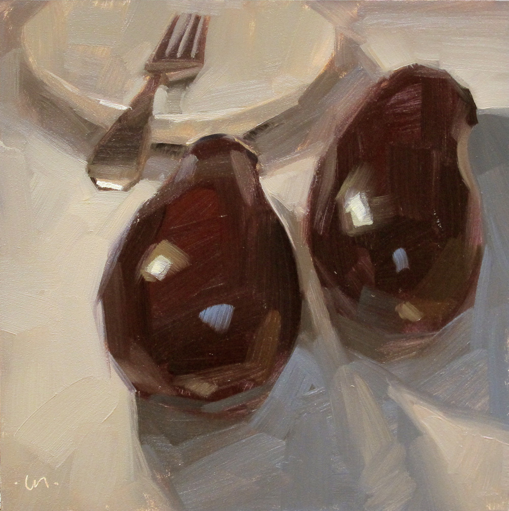 """Two Beautiful to Eat"" original fine art by Carol Marine"