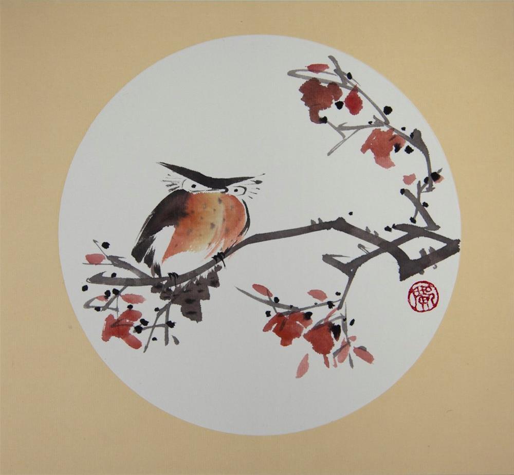 """Owl"" original fine art by R kwong"