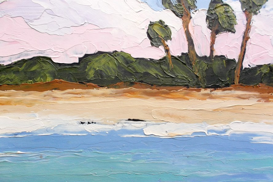 """Florida Gulf Beach"" original fine art by lynne french"
