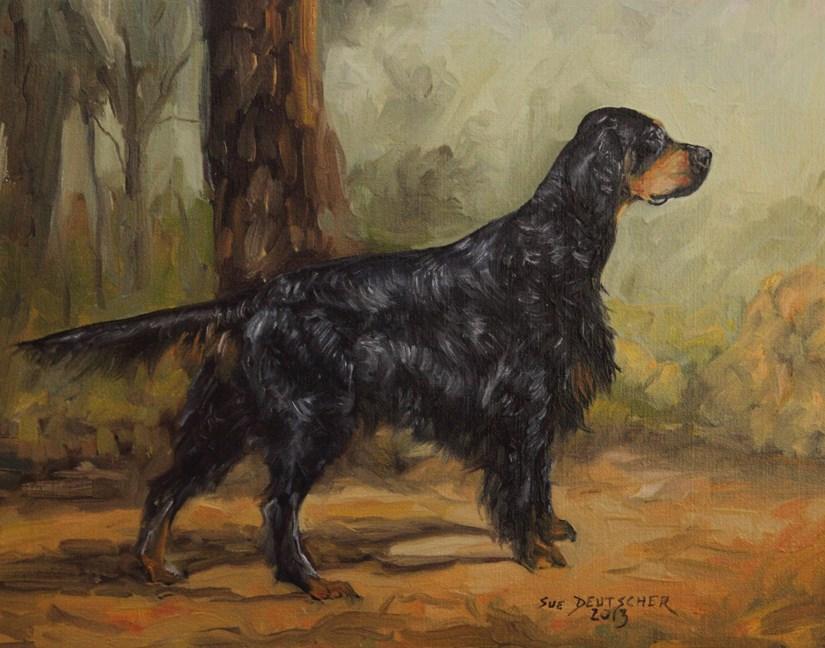 """""""Gordon Setter"""" original fine art by Sue Deutscher"""