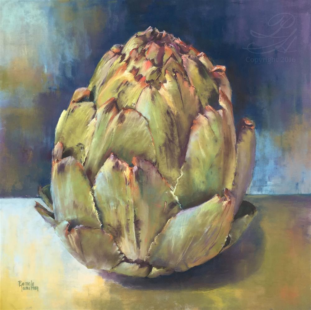 """Artichoke"" original fine art by Pamela Hamilton"