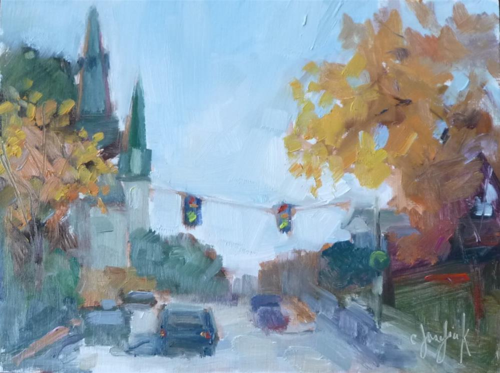"""Downtown"" original fine art by Carol Josefiak"