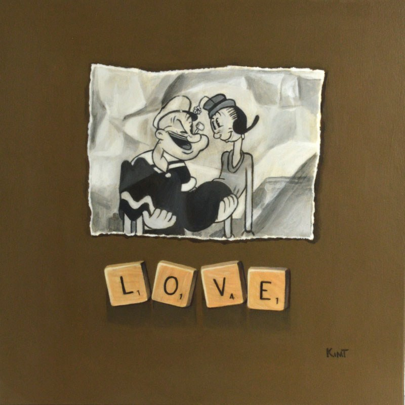 """Love"" original fine art by Kim Testone"