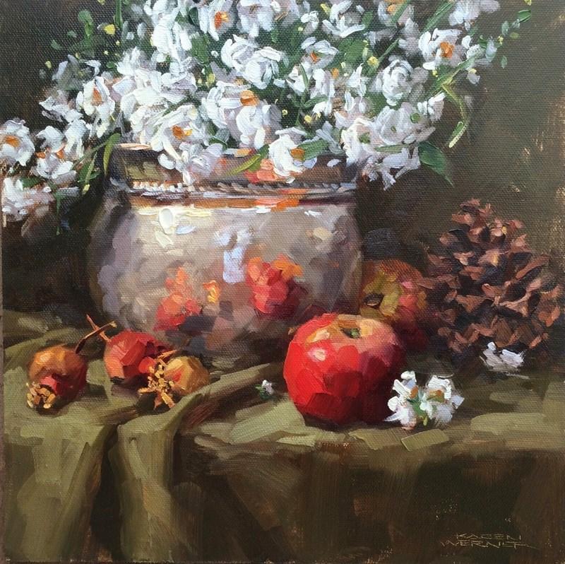 """Winter Arrangement II"" original fine art by Karen Werner"