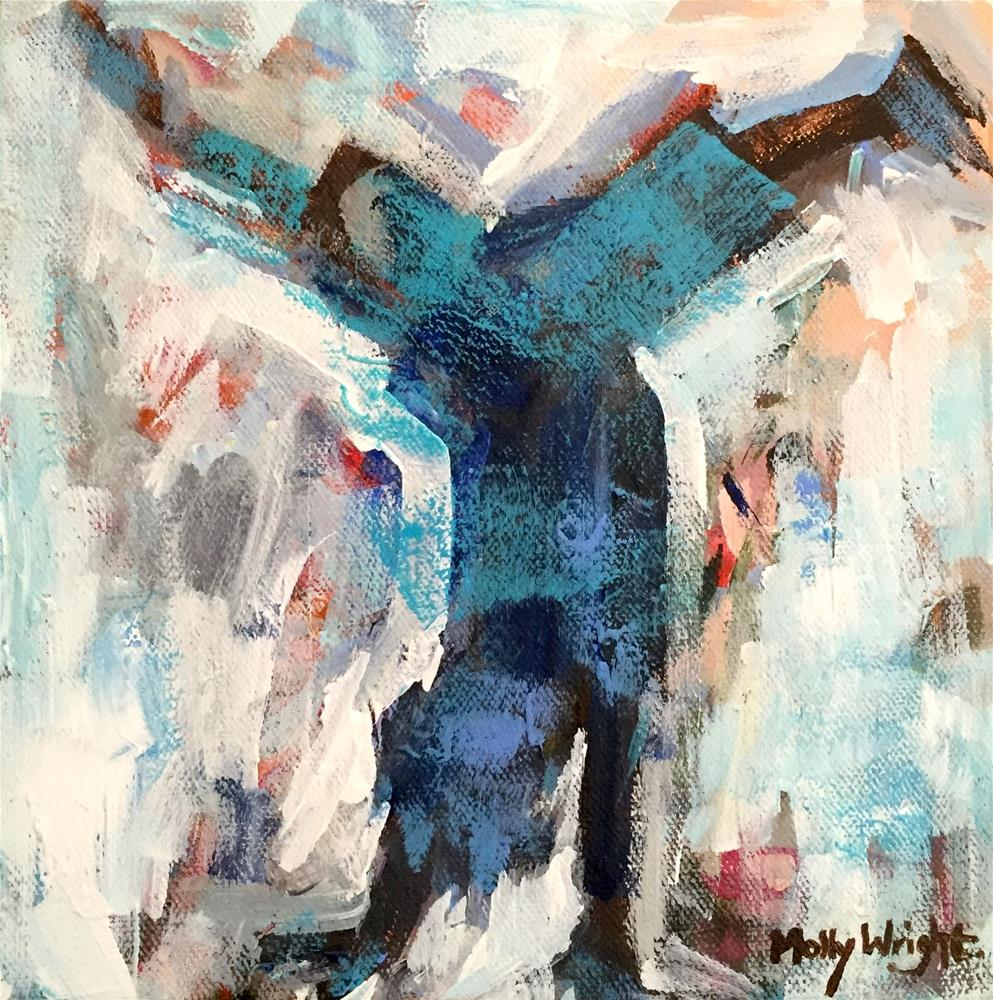 """Happy Handstander"" original fine art by Molly Wright"