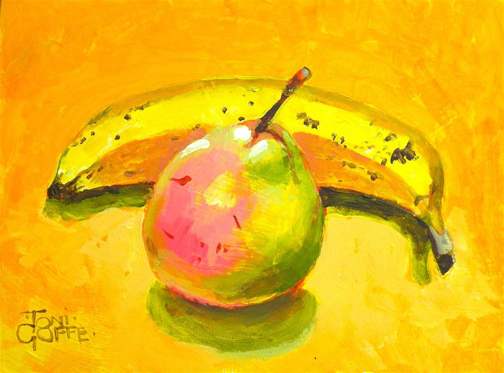 """Yellow and Pink"" original fine art by Toni Goffe"