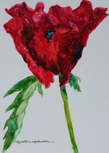 """Mother's Day Poppy"" original fine art by Jana Johnson"