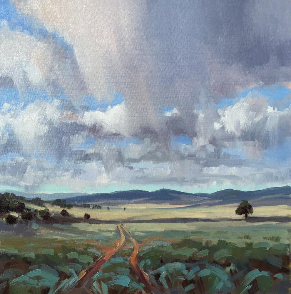 """Random Rain"" original fine art by Mary Jabens"