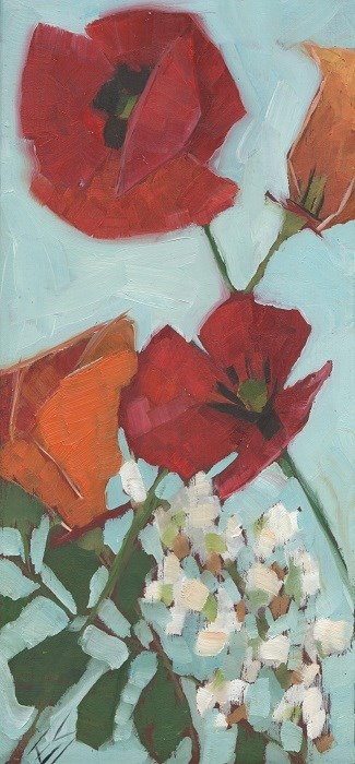 """Poppies"" original fine art by Elizabeth See"