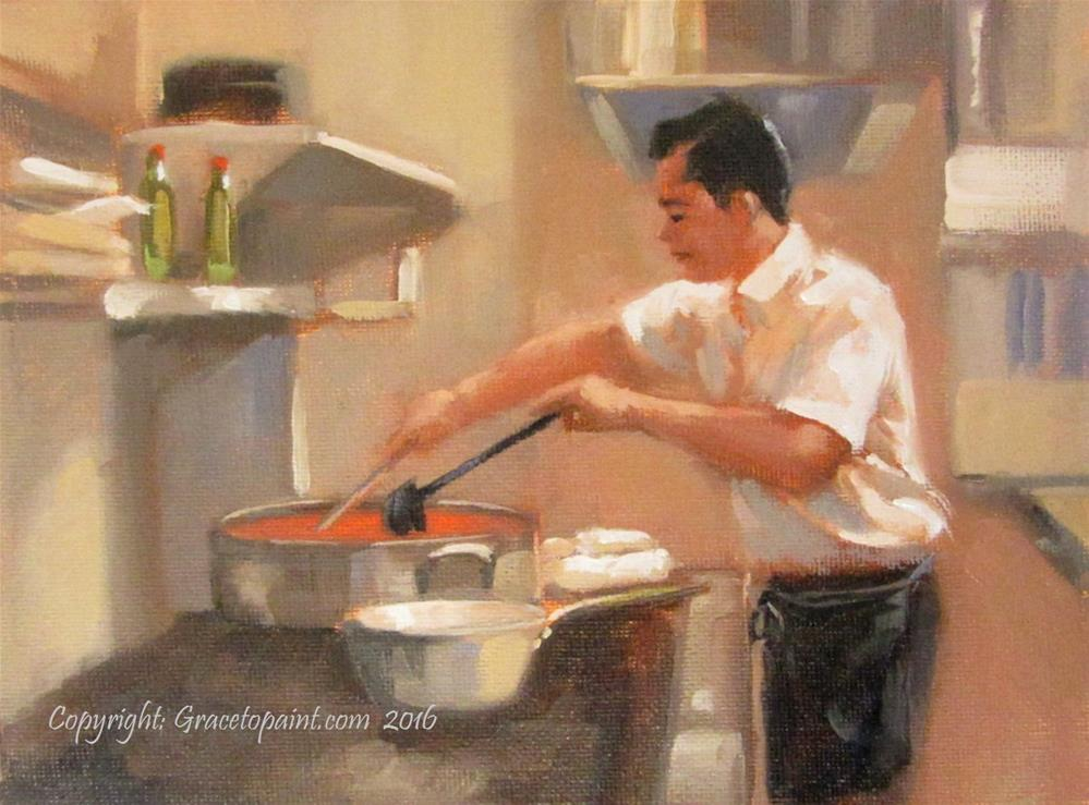 """La Salsa e Tutto (The Sauce is Everything)"" original fine art by Maresa Lilley"