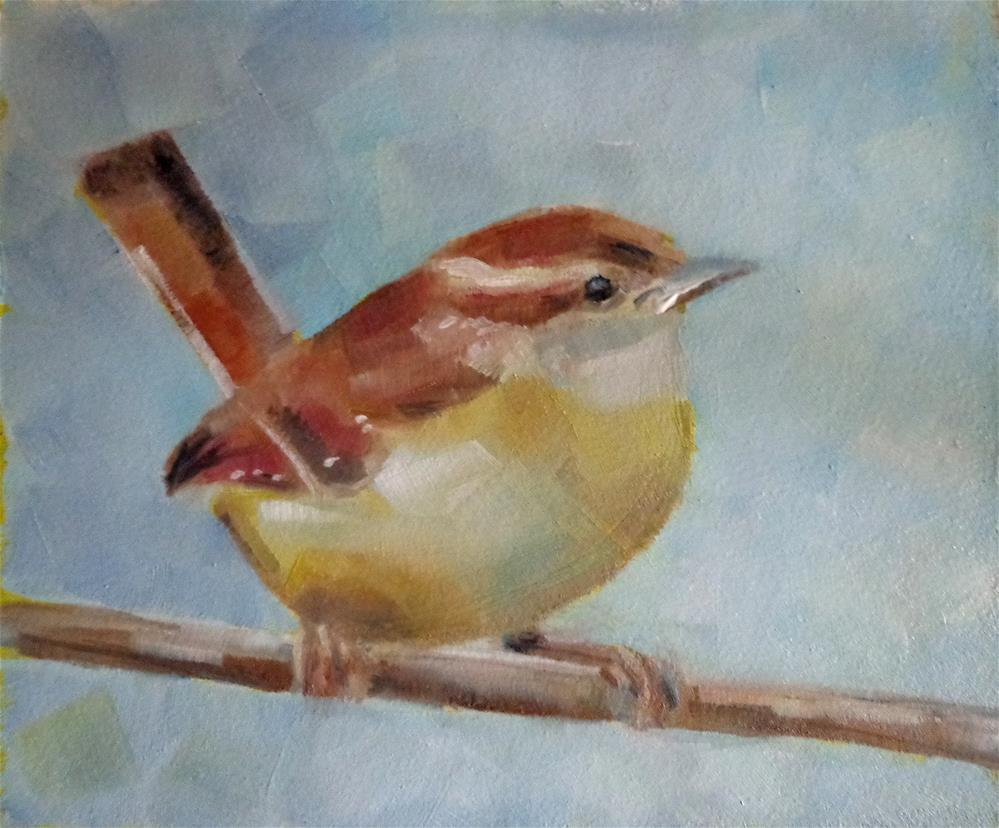 """Carolina Wren"" original fine art by Maria Z."