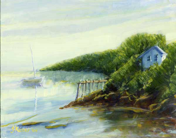"""Summer Cottage"" original fine art by J Kelsey"