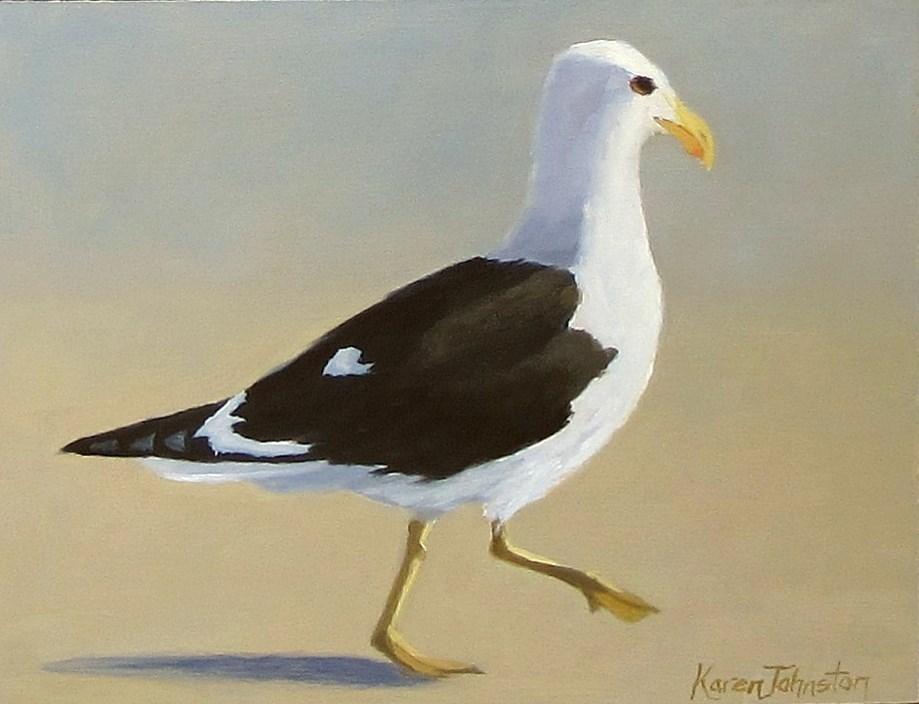 """""""Morning Jog"""" original fine art by Karen Johnston"""