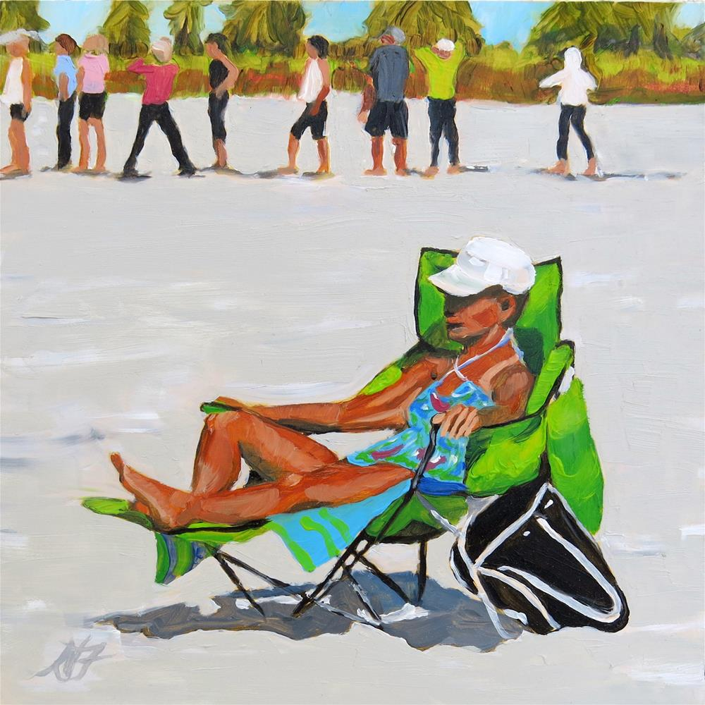 """Yoga Class"" original fine art by Nancy Fairchild"