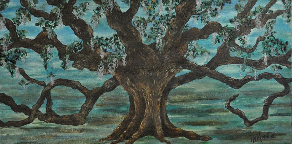 """""""Aging Oak"""" original fine art by Peggy W Morvant"""
