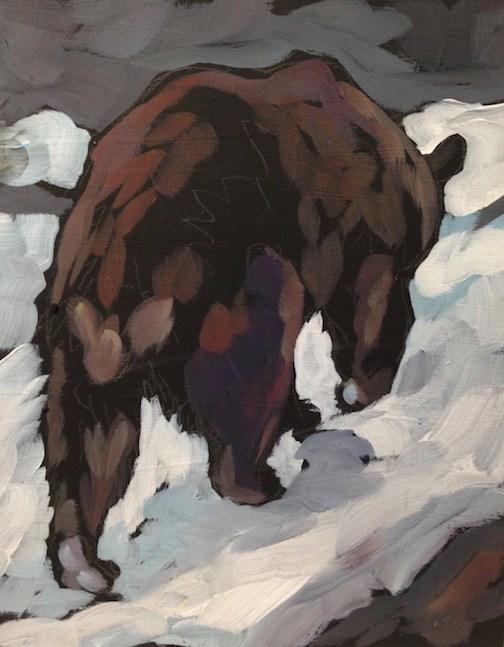 """""""Barefoot In The Snow"""" original fine art by Kat Corrigan"""