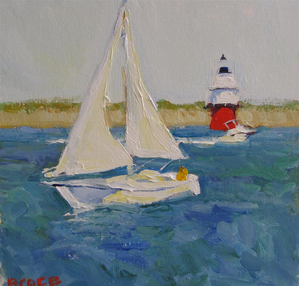 """Sailing By The Light"" original fine art by Rita Brace"