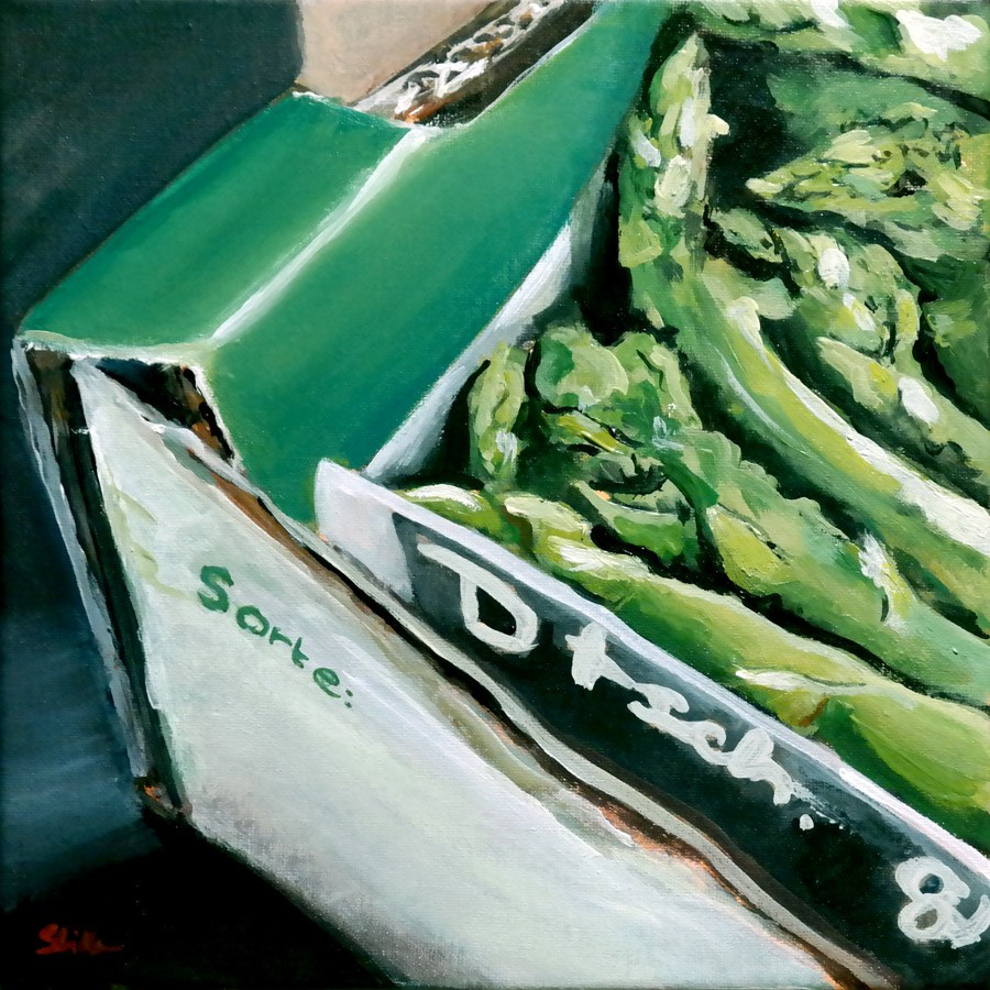 """1328 Late Nite Asparagus"" original fine art by Dietmar Stiller"