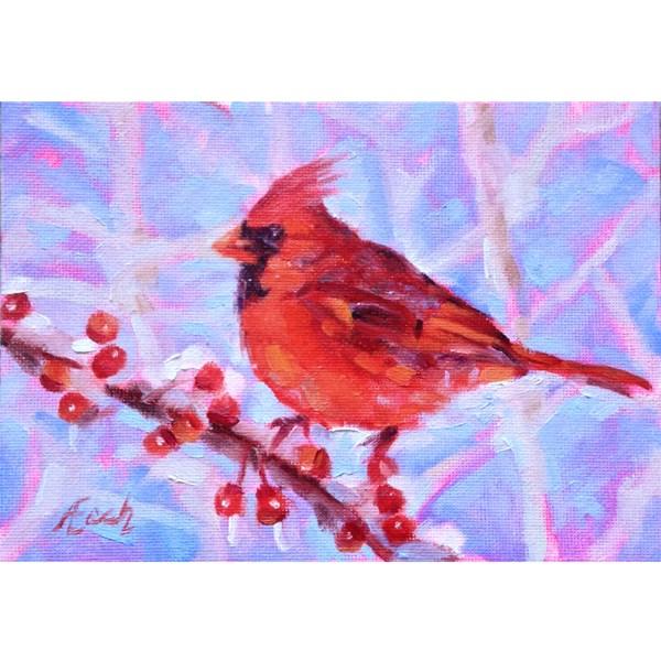 """""""Cardinal #2"""" original fine art by Audra Esch"""