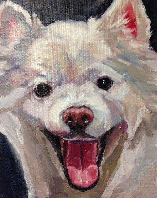"""Avalanche - Pet Portrait"" original fine art by Linda Marino"
