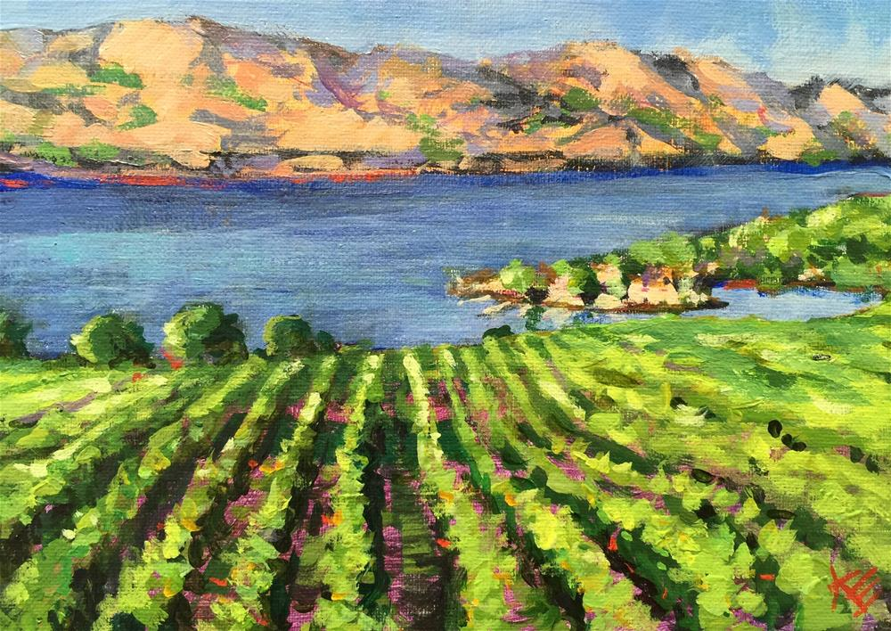 """Quail's Gate Vineyard"" original fine art by Krista Eaton"