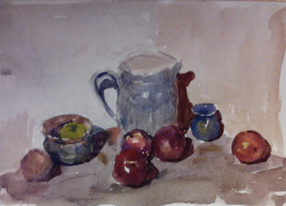 """Apples and jug"" original fine art by Nathan Sowa"