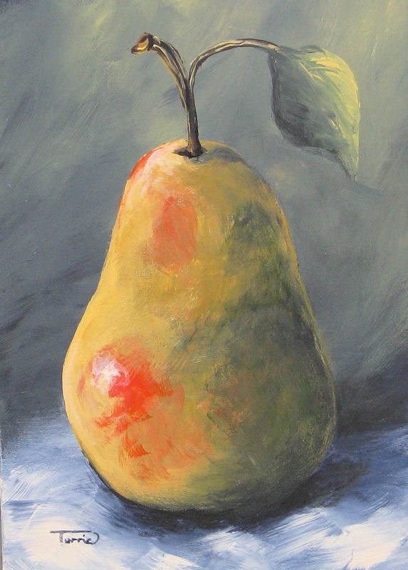 """New Year Pear"" original fine art by Torrie Smiley"