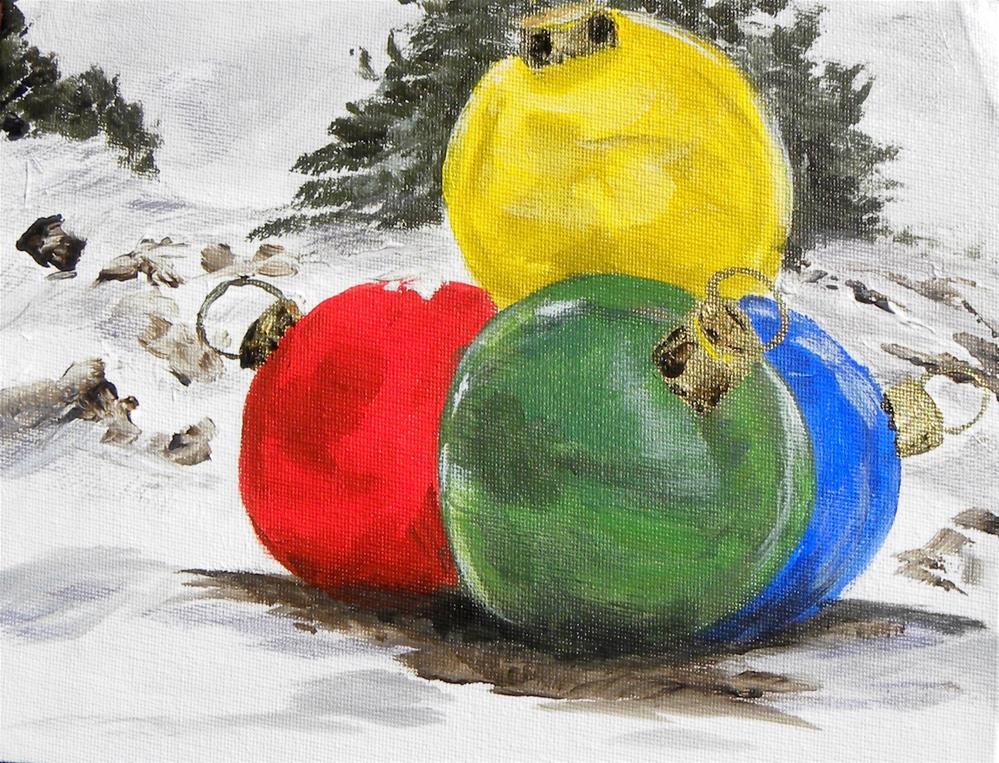 """I Love Ornaments!"" original fine art by cheryl buhrman"