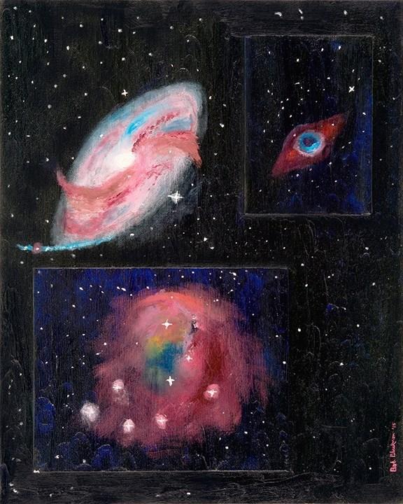 """Hubble"" original fine art by Bob Blackmon"