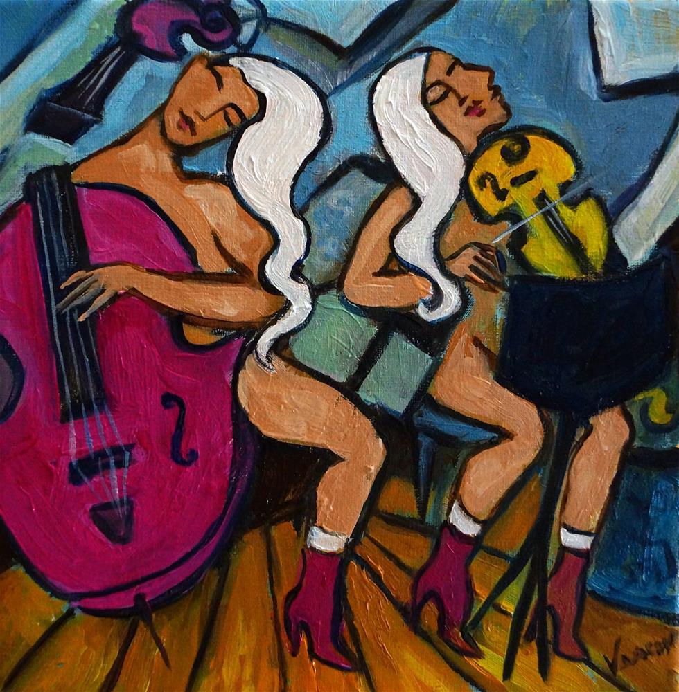 """Give up the Pink"" original fine art by Valerie Vescovi"