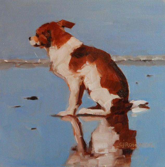 """Studdly"" original fine art by C J Roughton"