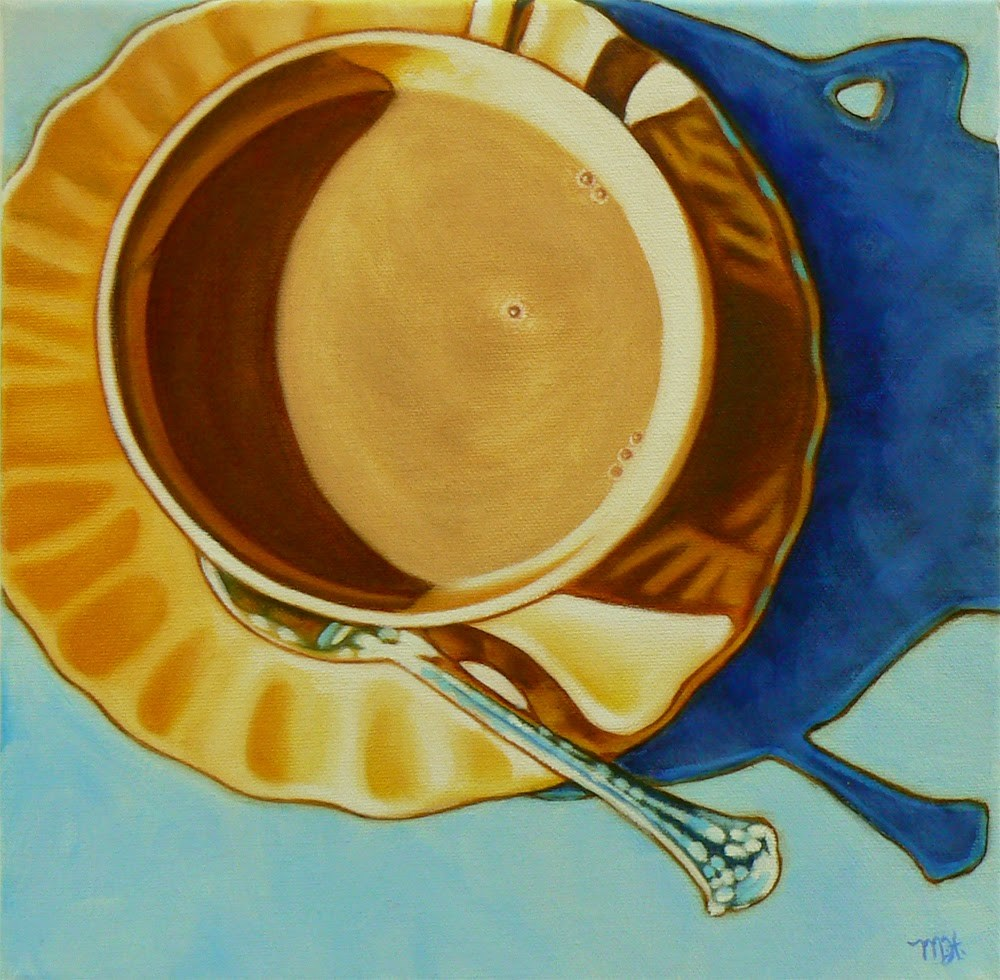 """Teacup Meditation"" original fine art by Margaret Horvat"