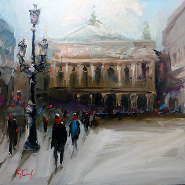 """opera national de paris"" original fine art by Jurij Frey"