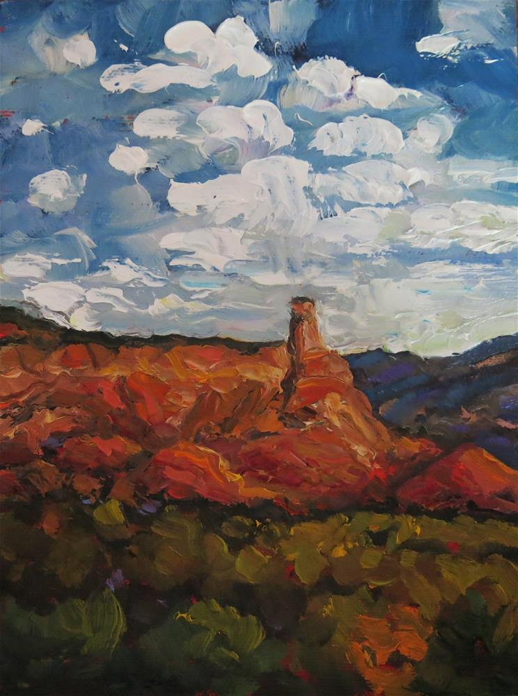 """ABIQUIU HOODOOS"" original fine art by Dee Sanchez"